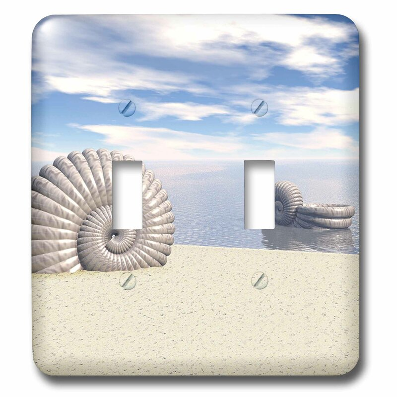 3drose Beach Of Shells Summer Scene Of Sandy Beach And Ocean Water With Shells 2 Gang Toggle Light Switch Wall Plate Wayfair