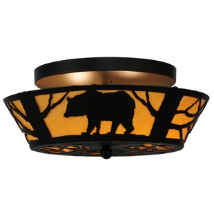 Bear on the Loose 2-Light Semi-Flush Mount by Meyda Tiffany