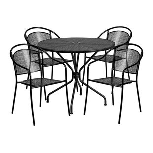 Ailsa Outdoor Steel 5 Piece Dining Set by..