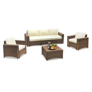 Nelligan Modular 3 Piece Sofa Seating Group with Cushions