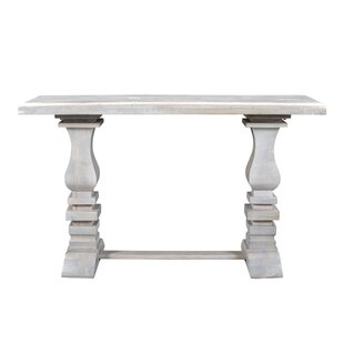 Maliyah Pedestal Console Table by Longshore Tides