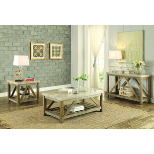 Bellas 3 Piece Coffee Table Set