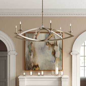 Hubbardton Forge Willow 6 Light Candle Style Classic Traditional Chandelier Perigold