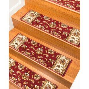 Stellar Red Stair Tread Set Of 13