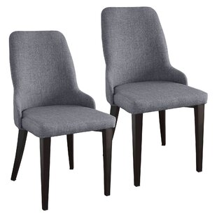 Bargain Lampert Upholstered Dining Chair (Set of 2) by Ophelia & Co. Reviews (2019) & Buyer's Guide