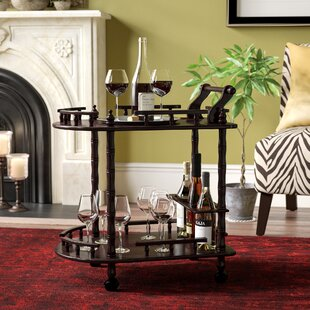 Zabala 2 Tier Wine Bar Cart by World Menagerie