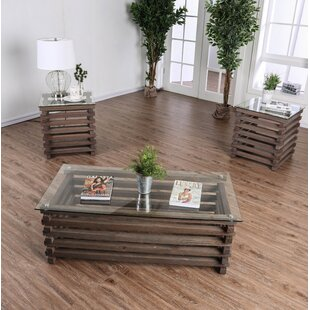 Union Rustic Perrodin Farmhouse 2 Piece Coffee Table Set