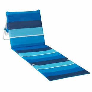 Cleckheat Reclining Beach Chair With Cushion by Freeport Park Savings