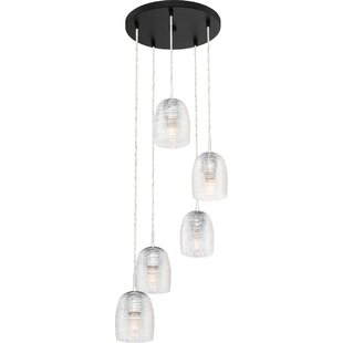 Zambrano 5-Light Cluster Pendant by Orren Ellis