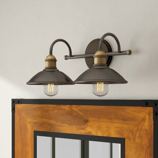 Best Reviews Cowans 2-Light Vanity Light By 17 Stories