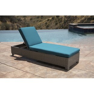 Koerner Reclining Chaise Lounger with Cushion
