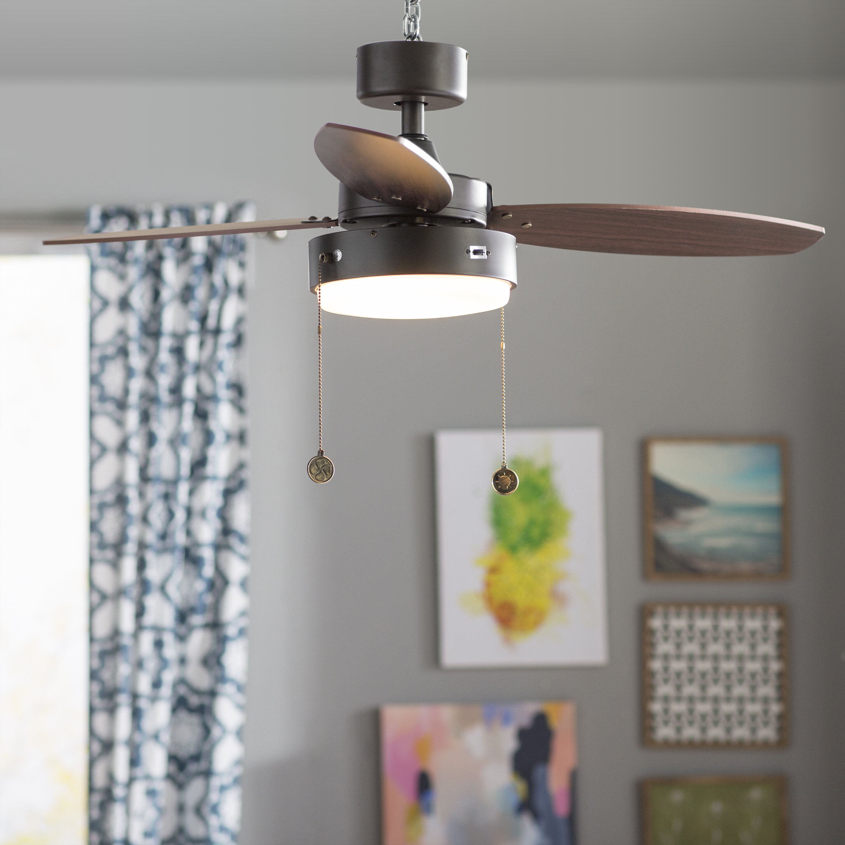 "Mercury Row 42"" Corsa 3 Reversible Blade LED Ceiling Fan & Reviews"