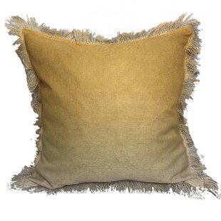 Weiler Ombre Fringe Throw Pillow