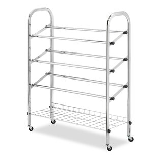 Compare prices Rolling 4-Tier Shoe Rack ByWhitmor, Inc