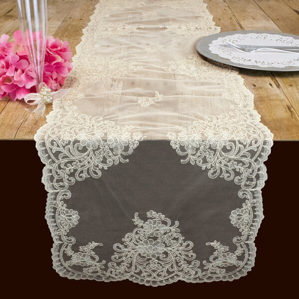 One Allium Way® Hartlepool Classic Damask Table Runner ...