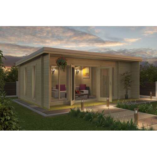 Goldston 21 x 15 Ft. Tongue and Groove Summer House Sol 72 Outdoor