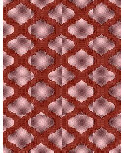 Red/Ivory Indoor/Outdoor Area Rug