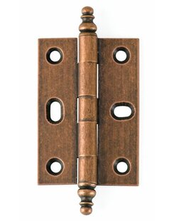 Solid Brass Inset Decorative Tip Mortise Hinge (Set of 2)