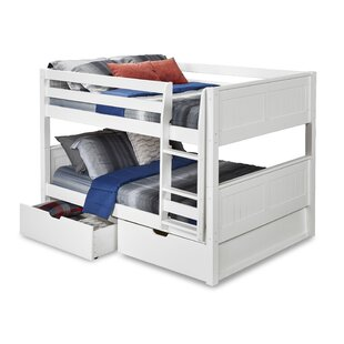 Oakwood Full over Full Bunk Bed with Storage By Harriet Bee