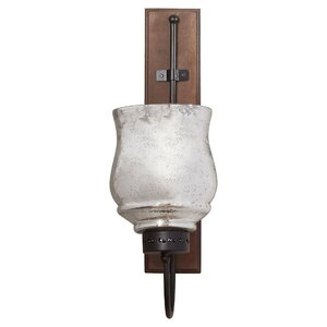 Hicchecok Metal and Wood Wall Sconce