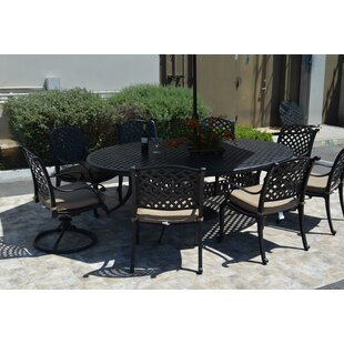 Darby Home Co Middleburgh 9 Piece Dining Set with Cushions