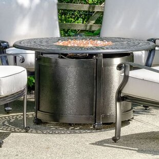 Alfresco Home Lisbon Aluminum Propane Fire Pit Table