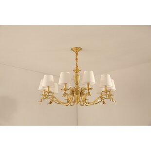 Suber 10-Light Shaded Chandelier by Charlton Home