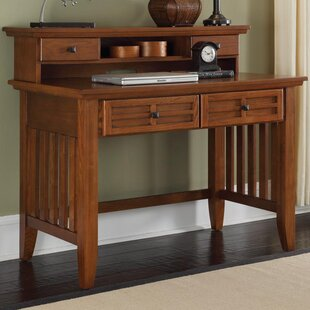 High-End Ferryhill 42 W Writing Desk and Hutch By Three Posts