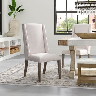 Alani Acacia Upholstered Side Chair in Cream Set of 2 by Greyleigh