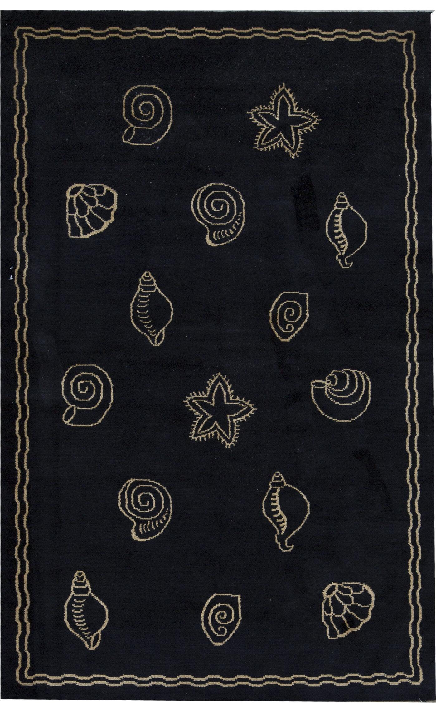 Bokara Rug Co Inc One Of A Kind Himalayan Art Hand Knotted 5 6 X 8 7 Wool Black Area Rug Wayfair