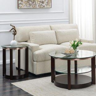 Alcott Hill Roan 2 Piece Coffee Table Set