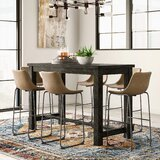 Bamey 7 Piece Solid Wood Dining Set by Trent Austin Design®