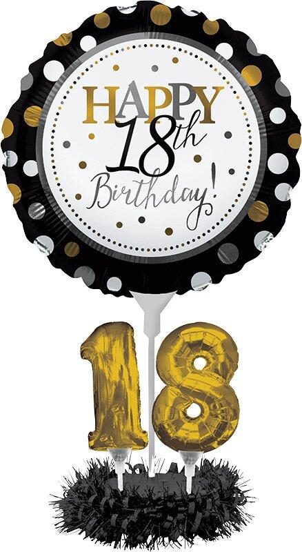 Creative Converting 18th Birthday Balloon Paper Disposable Centerpiece Kit