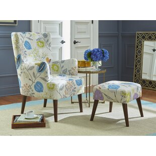 Piersten 245 Wingback Chair and Ottoman