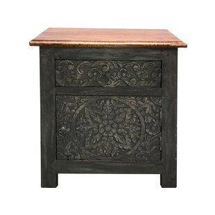 Golding 1 Drawer Bedside Table By World Menagerie