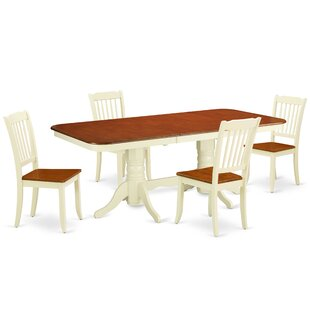 Laflamme 5 Piece Extendable Solid Wood Dining Set
