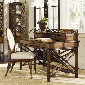 Bali Hai 3 Drawer Writing Desk With Hutch And Chair Set