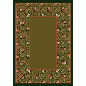 Design Center Tobacco Bouquet Lace Area Rug