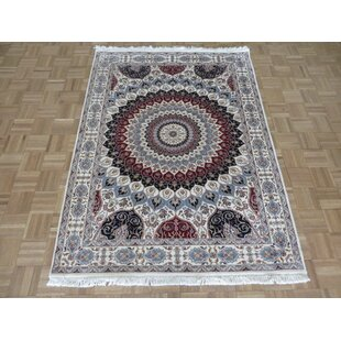 Best Deals One-of-a-Kind Beane Tabriz Gombad Hand-Knotted 4'8 x 6'4 WoolRed/Black Area Rug By Isabelline