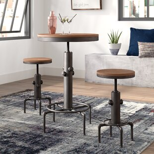 Carmona 3 Piece Adjustable Pub Table Set Trent Austin Design
