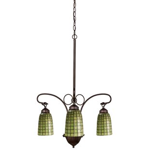 Meyda Tiffany Victorian Tiffany Terra Verde 3-Light Shaded Chandelier