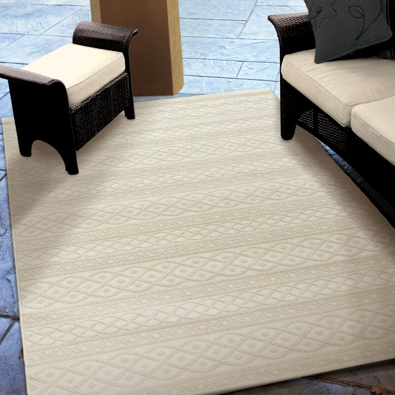 Acton Ivory Indoor/Outdoor Area Rug & Reviews   Joss & Main