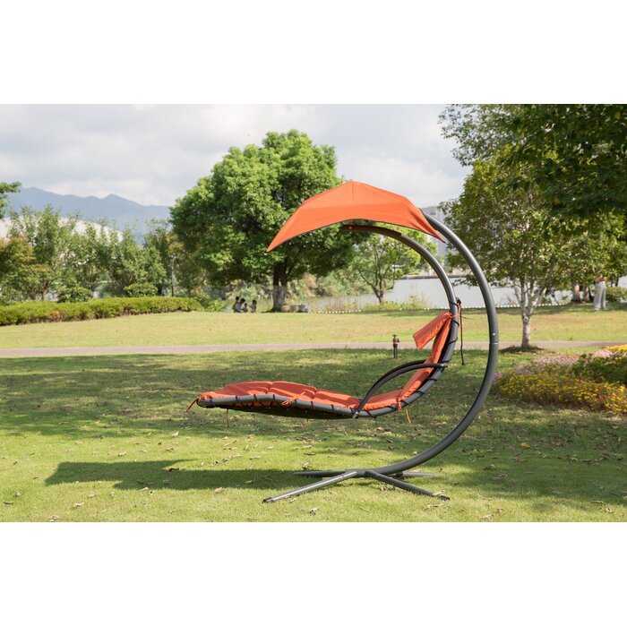 Krish Outdoor Porch Swing With Stand Air Canopy
