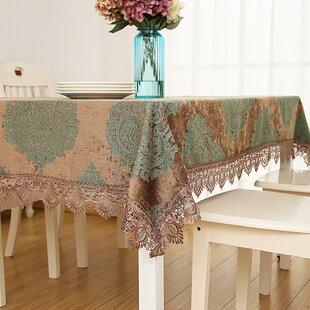 Edolie Jacquard Lace Edges Square Tablecloth