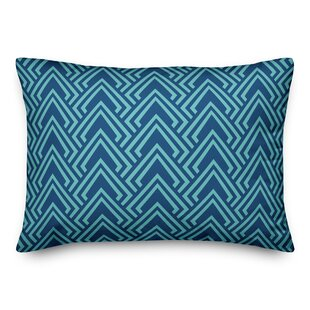 Linville Pattern Outdoor Lumbar Pillow