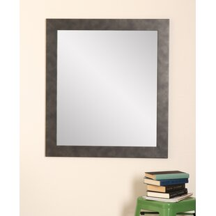 Clouded Gunmetal Wall Mirror By Brandt Works LLC