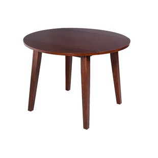 Dinh Drop Leaf Solid Wood Dining Table Latitude Run