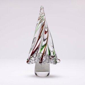 Stripe Glass Tabletop Tree