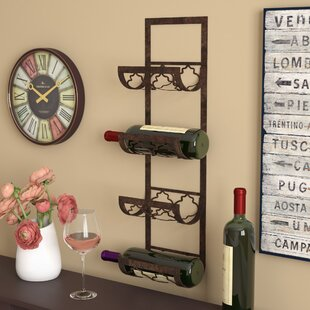 Brashears 4 Bottle Wall Mounted Wine Rack by Fleur De Lis Living