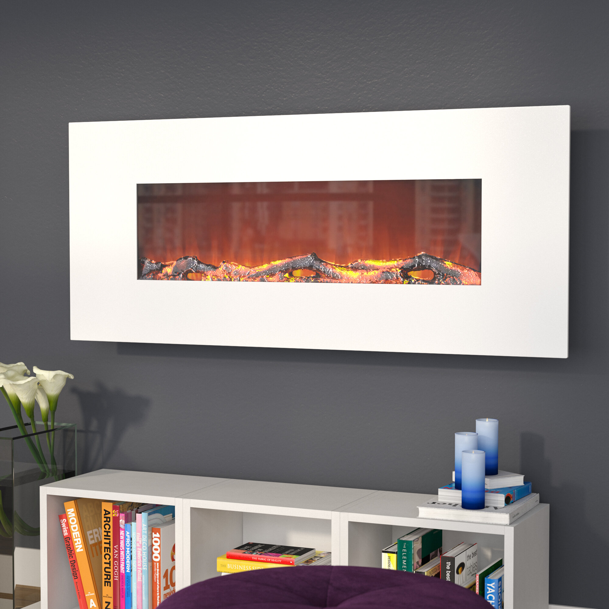 Zipcode Design Lauderhill Wall Mounted Electric Fireplace Reviews Wayfair